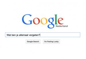 Google-vergeten