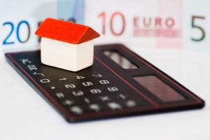 Huis met rekenmachine